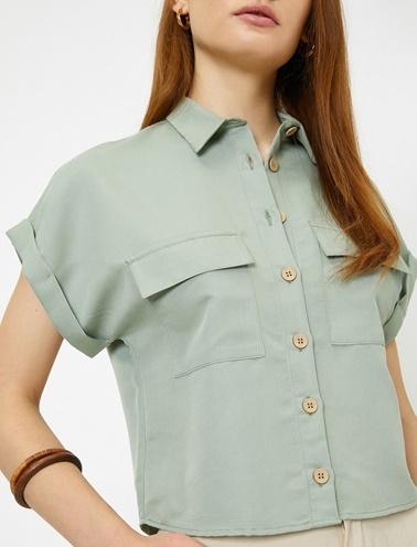 Koton Gömlek Yeşil